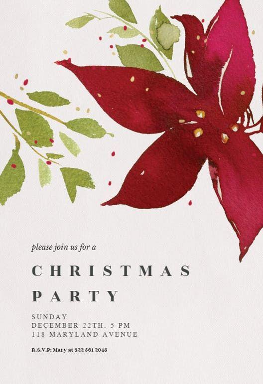 Holidays bloom - Christmas Invitation christmas Pinterest