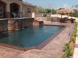 colored concrete pool deck ideas | pool design and pool ideas
