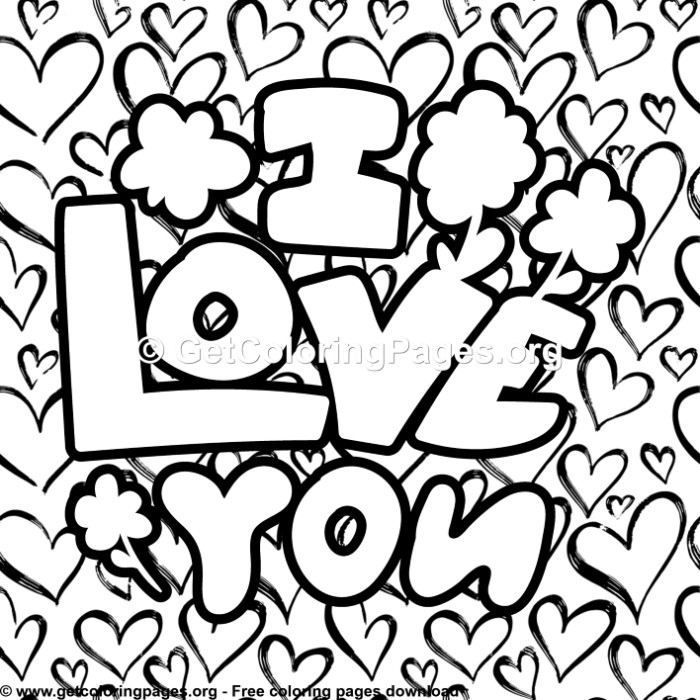4 Cute I Love You Coloring Pages Love Coloring Pages Coloring Pages Cute I Love You