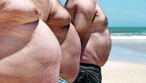 Un ventre gonflé provient de l' atrophie des abdos transverses