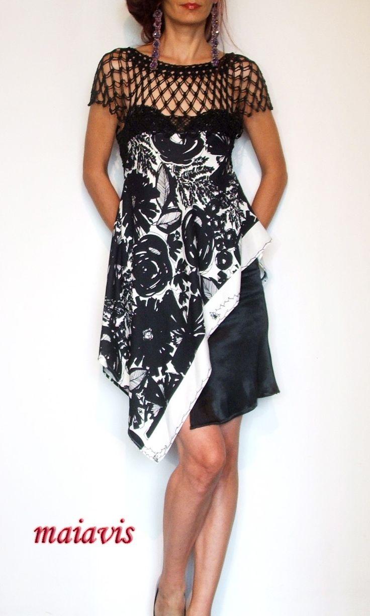 women fashion women clothing handmade elegant romantic black & whait