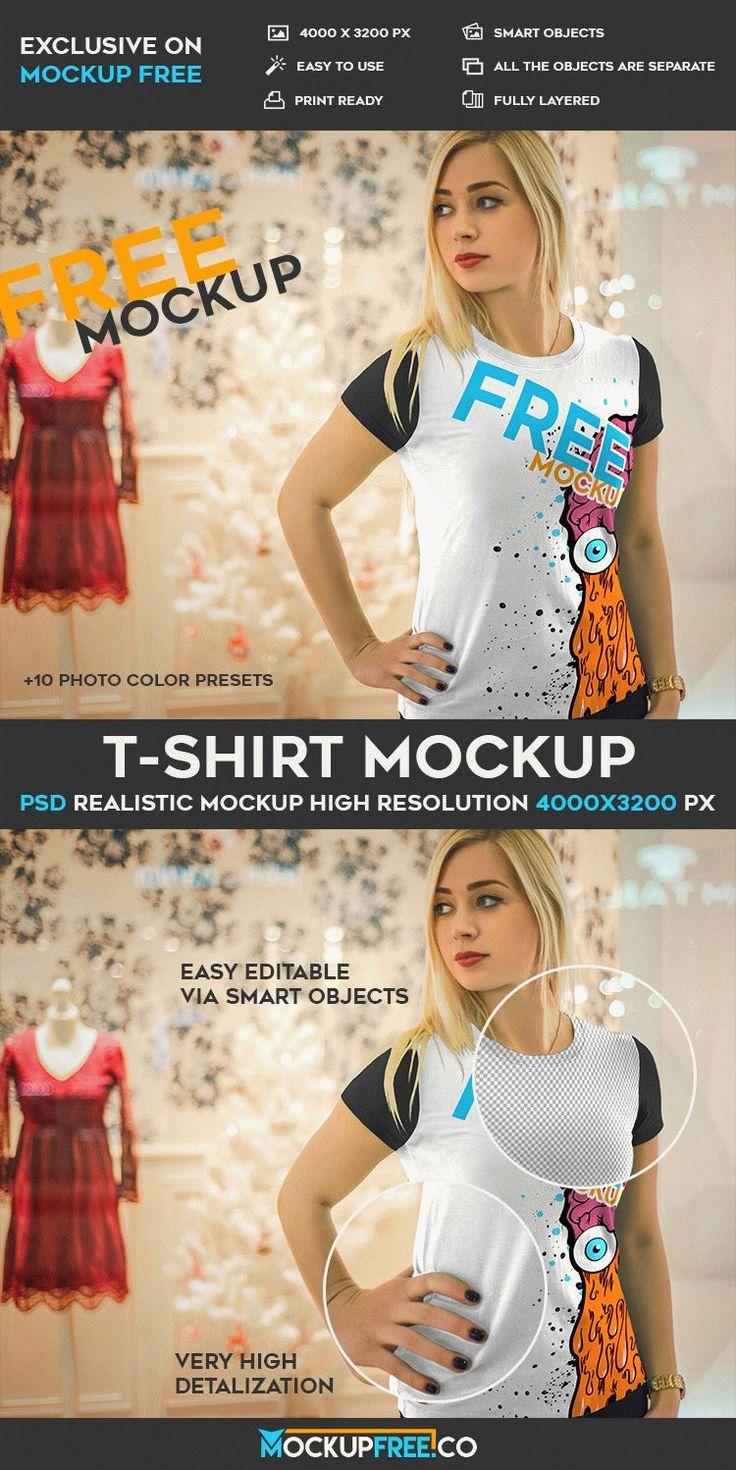 Free T-Shirt PSD Mockup | Free PSD Templates | #free #photoshop #mockup #psd #t-shirt