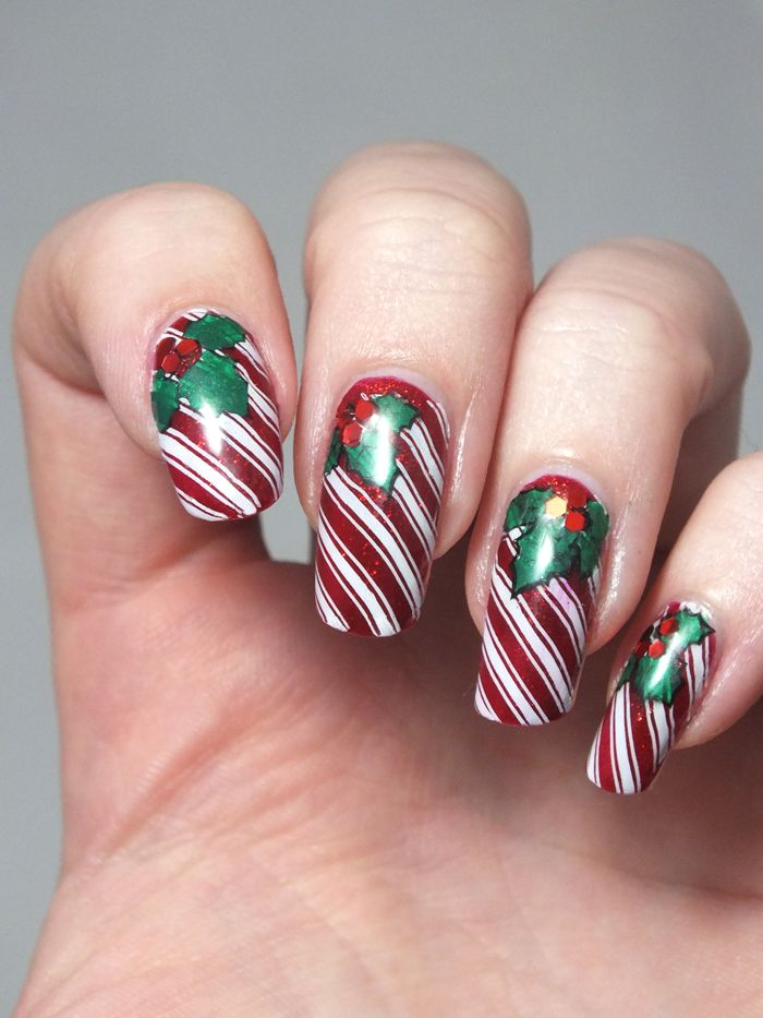 183 best nail art images on pinterest ongles nail art and nail idee manucure noel nail art christmas candy cane prinsesfo Gallery