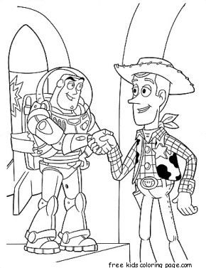 printabel coloring pages toy story 3 characters woody and buzz - Buzz Lightyear Coloring Pages Free