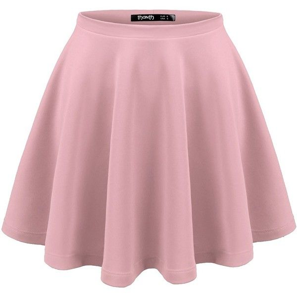 TWINTH Skater Skirt Plus Size for women Basic Versatile Stetchy Flared... ($5.99) ❤ liked on Polyvore featuring skirts, wide skirt, womens plus size skirts, pink skater skirt, flared skirt and pink circle skirt