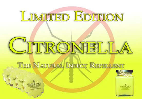 Get your Citronella candles while stocks last! This is your natural insect repellent! www.sevenoakscandleco.co.uk