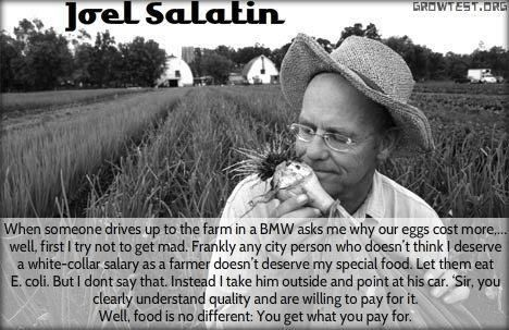 'well, first I try not to get mad'… Joel Salatin