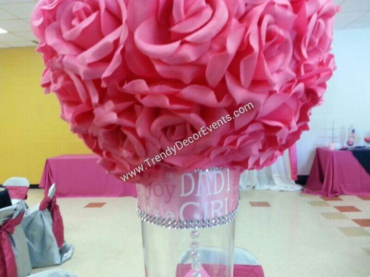 Denim diamonds baby shower centerpiece tdl events for Denim centerpieces