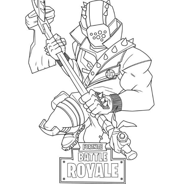 Fortnite Rustlord Coloring Pages - Tripafethna