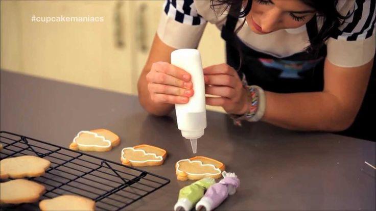 Decoración de galletas (glasa de borde y de relleno) Receta de galletas de canela