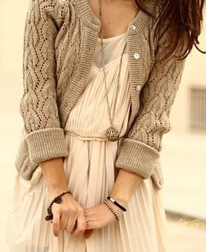 Cardigan: Summer Dresses, Fashion, Fall Style, Sweaters Tights, Sweaters Dresses, Chunky Sweaters, Cream Dresses, Fall Outfits, Knits Sweaters