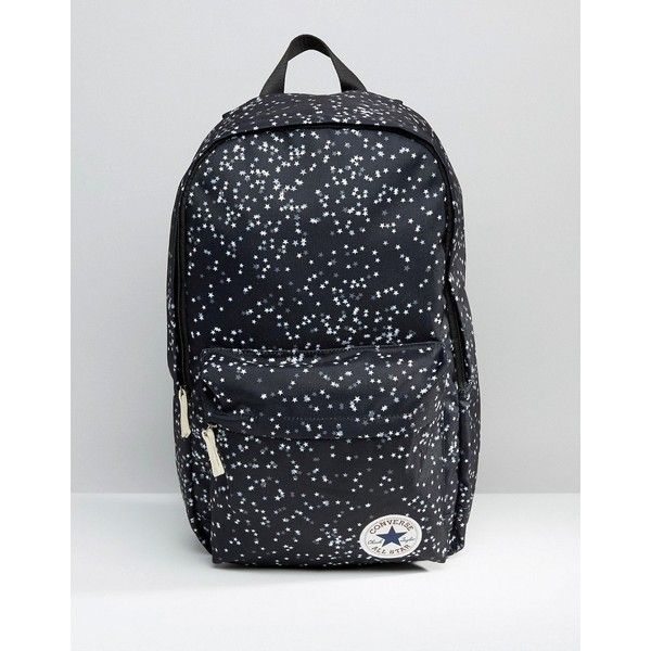 Converse Logo Backpack With Star Print (145 ILS) ❤ liked on Polyvore featuring bags, backpacks, multi, backpack bags, converse bag, print bags, zip top bag and knapsack bag