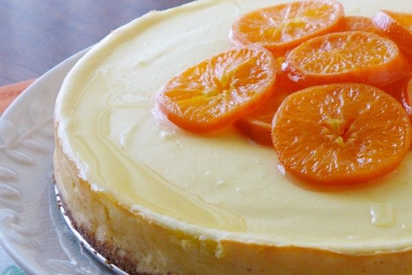 Gorgeous  Tangerine Cheesecake  from Nibbles and Feasts