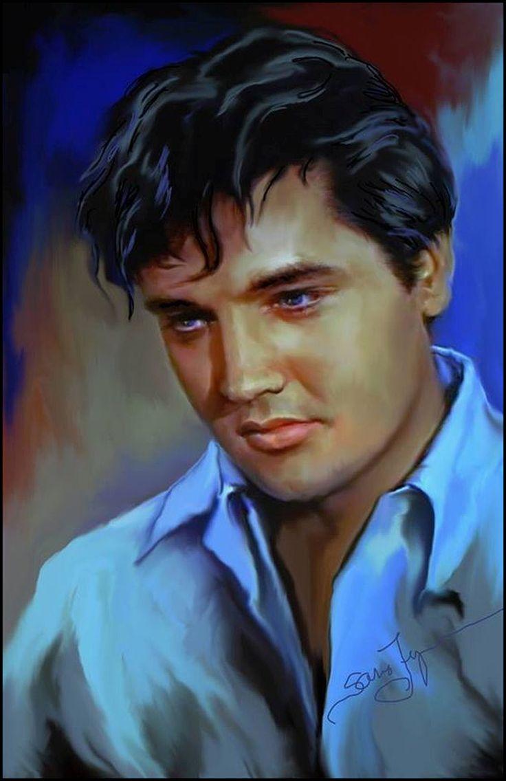 Elvis Presley – Art Prints by Gary Saderup ...  |1977 Elvis Painting