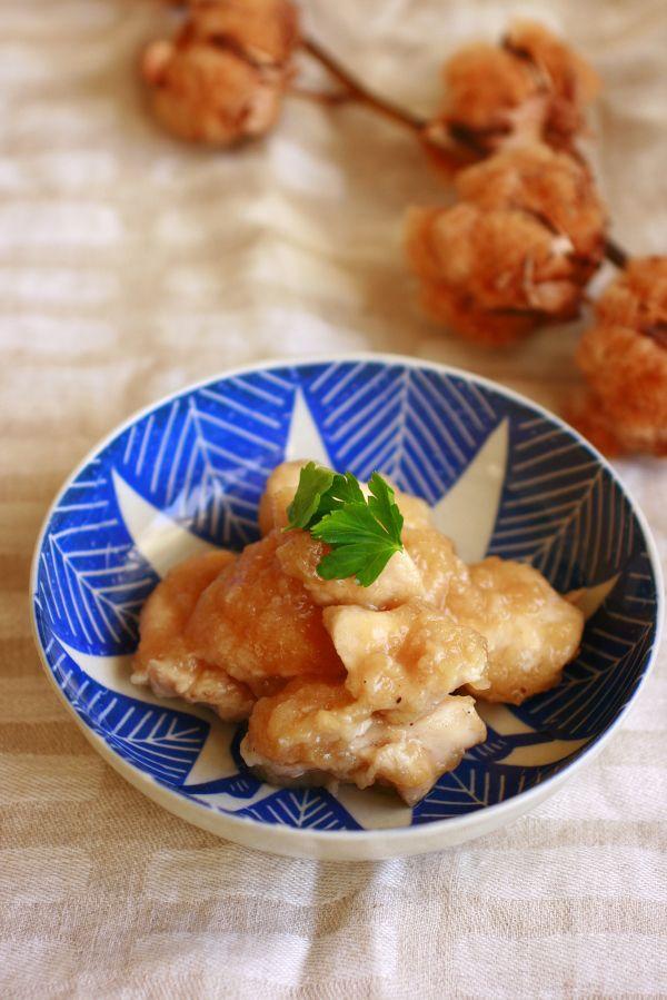 湯煎で簡単!鶏むね肉のしっとりおろし煮 by 大本紀子(Lilico ...