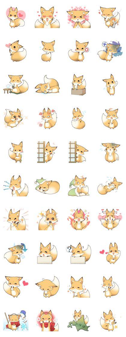 Girly fox - LINE Creators' Stickers