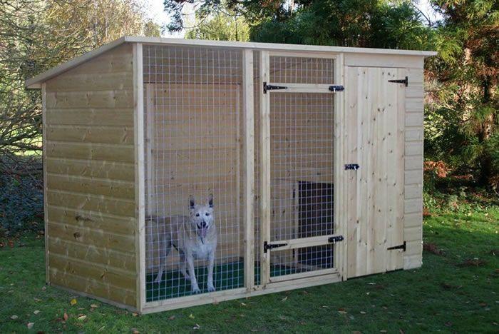 вальер для собаки из дерева