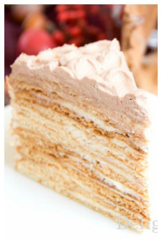 multi layered honey cake  - honeycake medovik - russian cakes - desserts