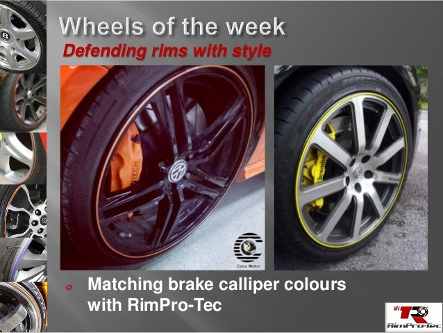 Matching Brake Callipers with rimpro-tec looks amazing .