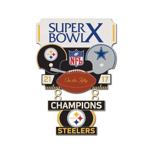 Super Bowl X (10) Steelers vs. Cowboys Champion Lapel Pin