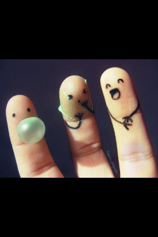 Finger people :)  bursting your bubble.
