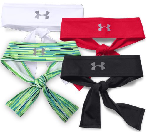 Fiercley take on your competition with the Women's Under Armour Tie headband, this headband ties in teh back with a knot to prevent slippage so yo   Midwest Volleyball Warehouse