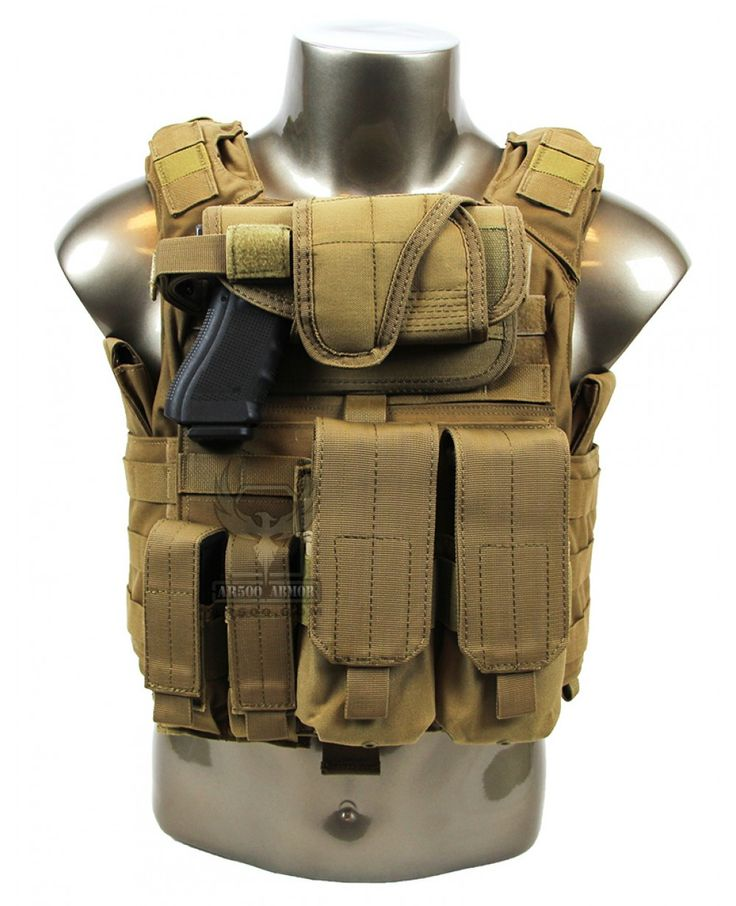Banshee Plate Carrier w/ Armor & Pouches - Coyote