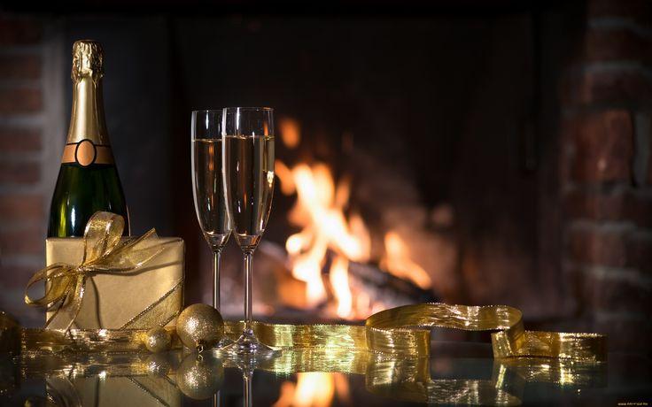 праздничные, угощения, лента, шампанское