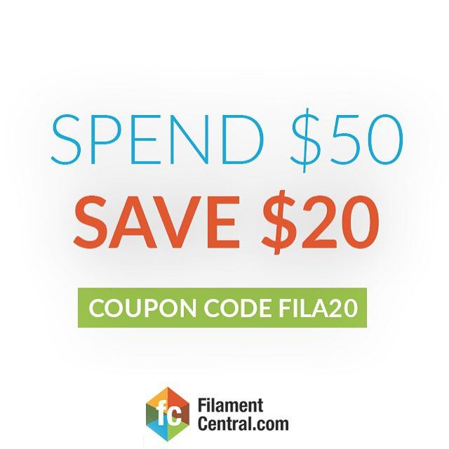 """Something we liked from Instagram! Save $20 when you spend $50. coupon code """"Fila20"""" - - Let's create something together  @filamentcentral - #3D #3dprint #3dprinter #3dprinted #makerbot #reprap #shapeways #3dfilament #hero #selfmade #autodesk #followme #gopro #diy #toomanyhashtags #3dprint #inventor  #art #zeusprinter #3dmodeling #3dprinted #filaments #additivemanufacturing #prototyping #imagination #design #3dp #eezitec #rapidprototyping #startups #technology by filamentcentral check us…"""
