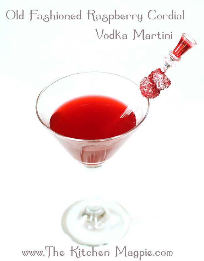 Raspberry Cordial Vodka Martini