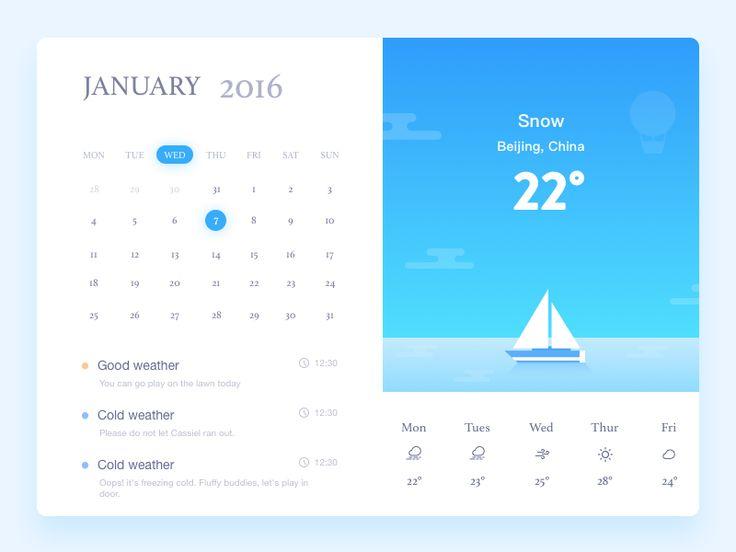 Weather app inspiration – Muzli -Design Inspiration