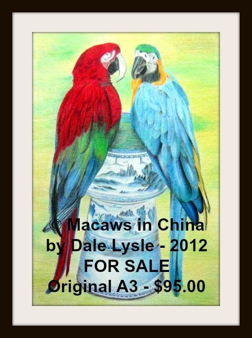 FOR SALE - FRAMED $95.00.Polychromos Colour Pencil on A3