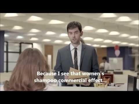 Even though I am bias for men having long beautiful hair; this is a really funny shampoo commercial.