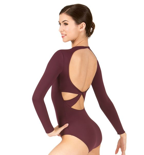 Twist Back Long Sleeve Leotard ● BT5177