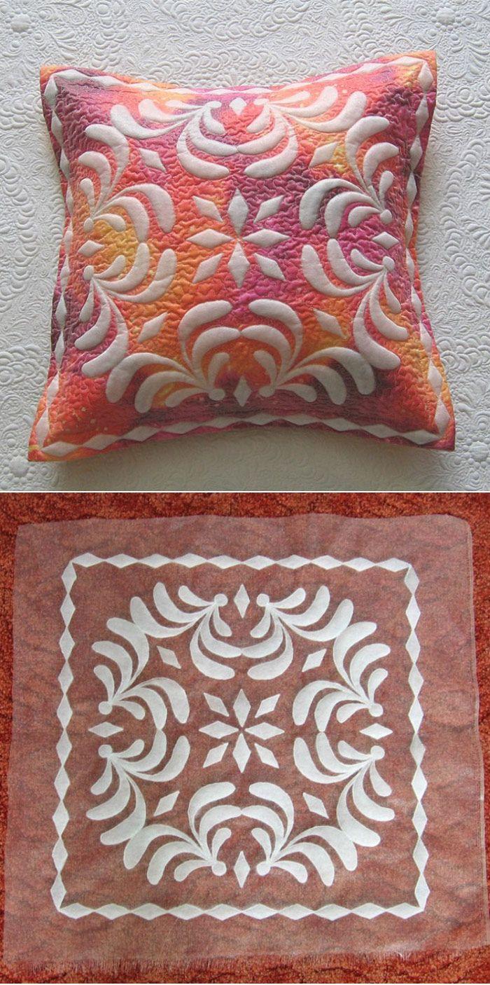 Shadow trapunto quilt- cushion cover