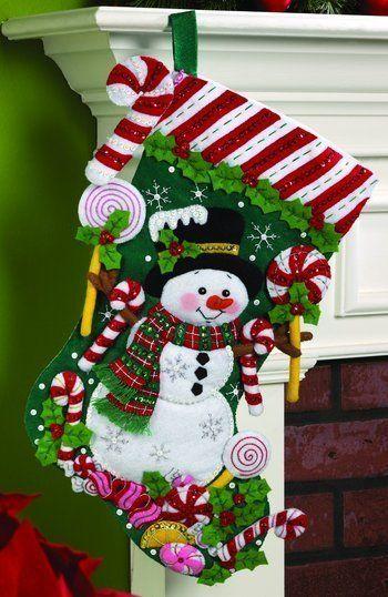 Bota de Natal com boneco de neve