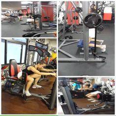 continuação do treino de quadriceps e gluteo agachamento sumo no Smith 3×12 bi set com elevação pélvica de joelho no Smith 3x15 cadeira abdutora 3x 20 bi set 30 segundos agachamento livre sem descanso intervalo da abdutora é 30 segundos de agachamento