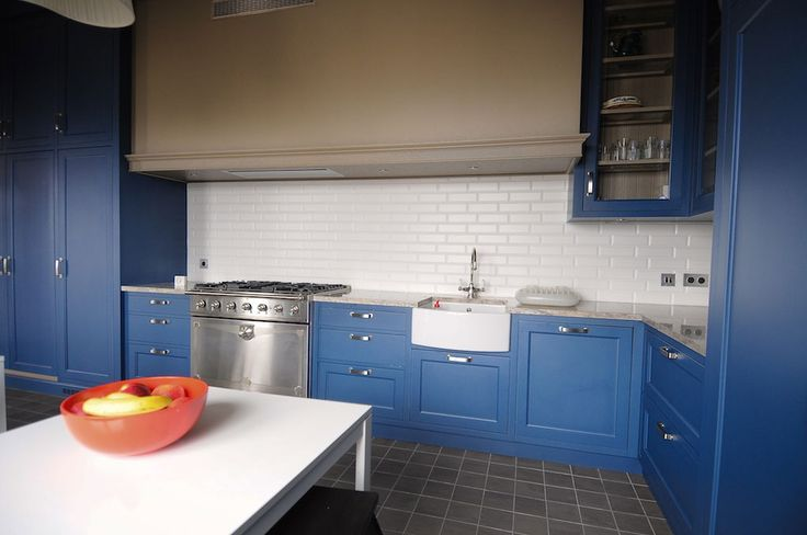 Mobilier Pe Masura | La Maison Blue Painted Kitchen - Bespoke Kitchens - La Maison