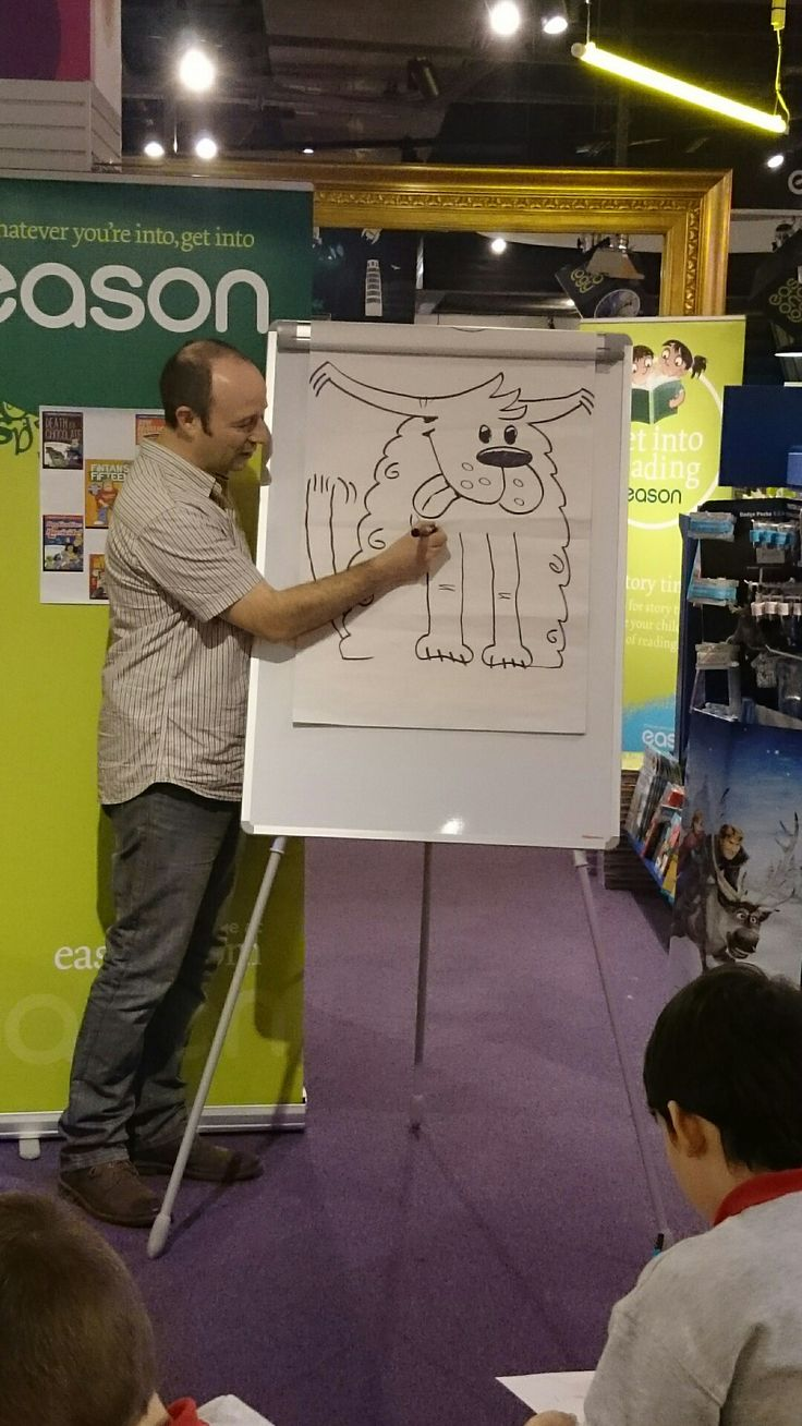 Alan Nolan gives a tutorial on how to draw Ollie the Dog the Ballybreen Terriers mascot in Fintan's Fifteen
