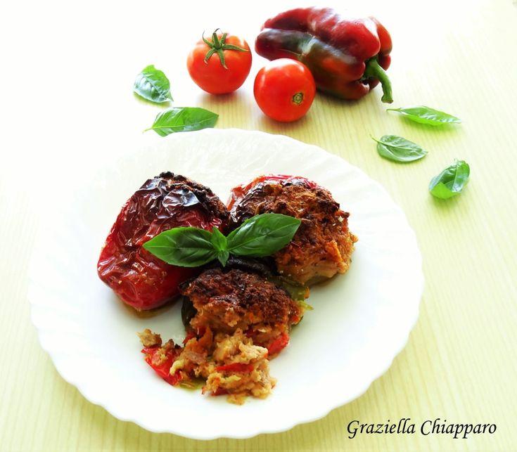 Peperoni+ripieni+con+carne+e+olive+ +Ricetta