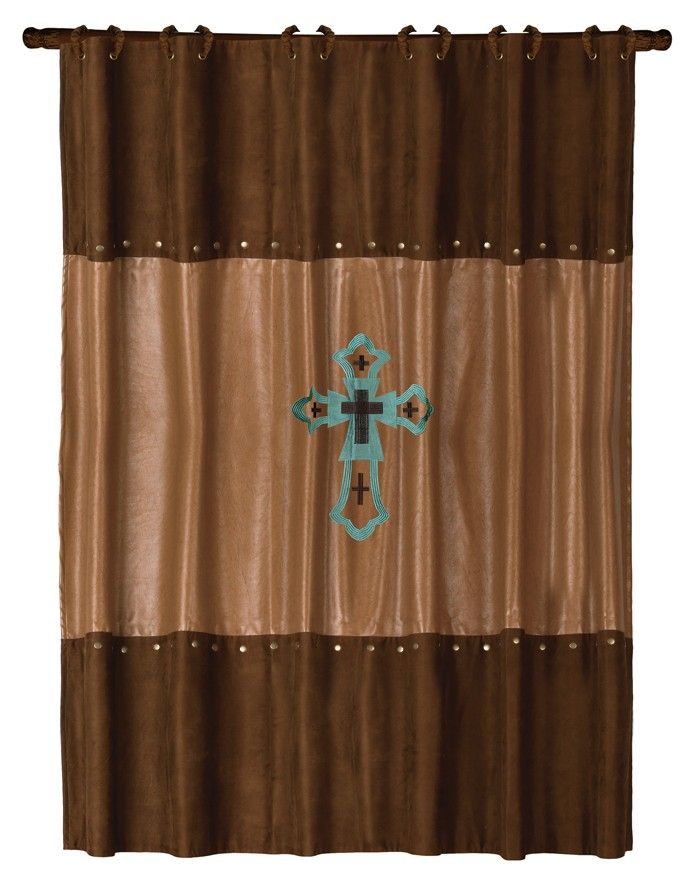 Las Cruces Shower Curtain  Rustic Bathroom Ideas but no
