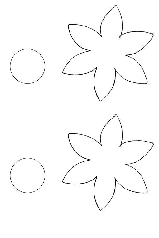 49 best Mallen voor bloemen images on Pinterest Flower template - flower template