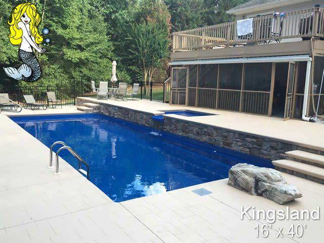 30 best images about 8 39 depth fiberglass pools on for Average square footage of a swimming pool