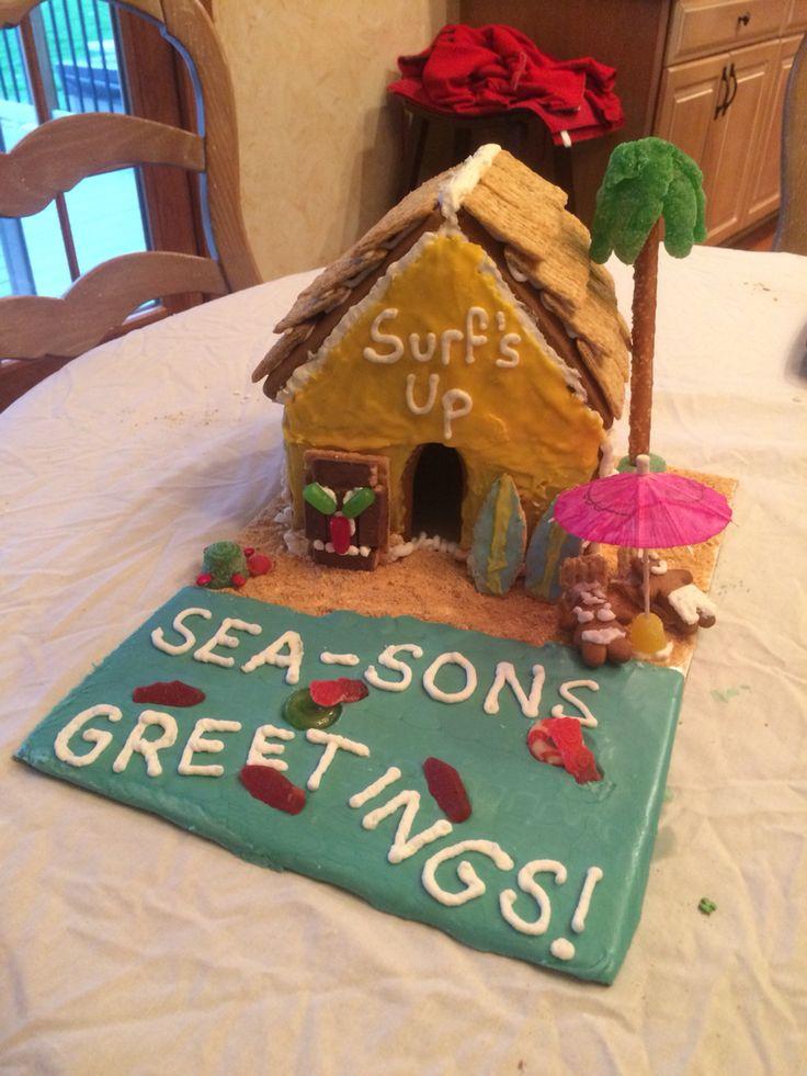 Beach Themed Gingerbread House