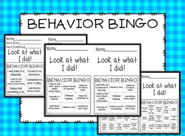 Motivate your students with this behavior bingo game.