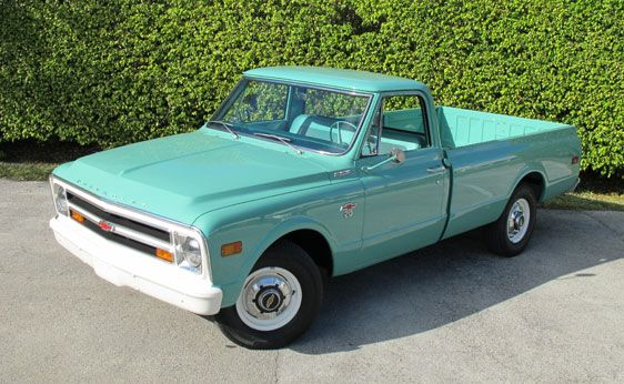 "1968 Chevrolet truck I believe with a ""Bow Tie"""