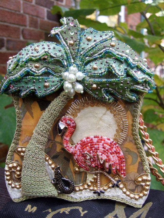 Mary Frances Handbags On Sale | SALE Beaded Pink Flamingo Handbag by Mary by worldmarketproductio