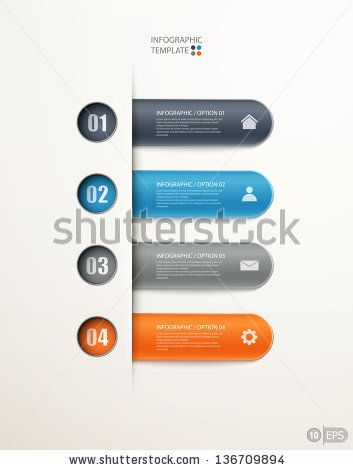 infographics options banner for workflow layout, diagram, number options, web design. eps10 illustration by makeitdouble, via ShutterStock