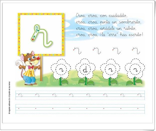 """Letra """"r"""" (El jardín de las letras. Lectoescritura. Consonantes. Algaida +)"""