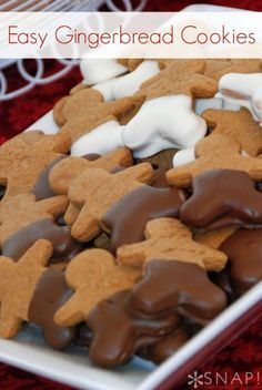 If you're looking for a SUPER-EASY gingerbread cookie recipe. grab the recipe for the softest. most delicious gingerbread you will ever eat!